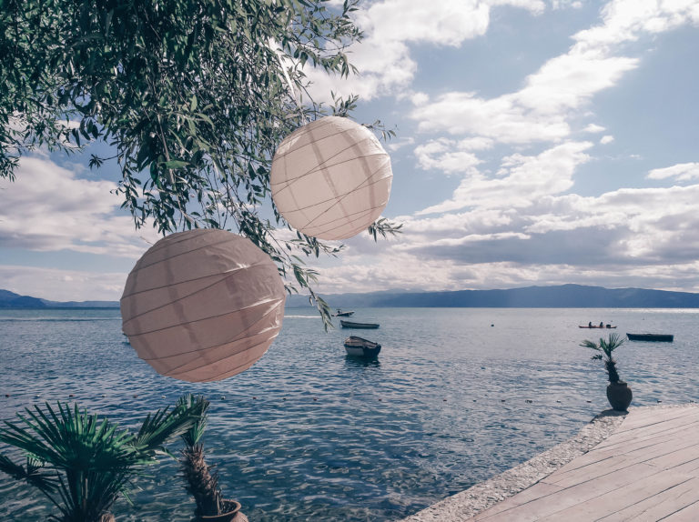 Ohrid Lake in North Macedonia